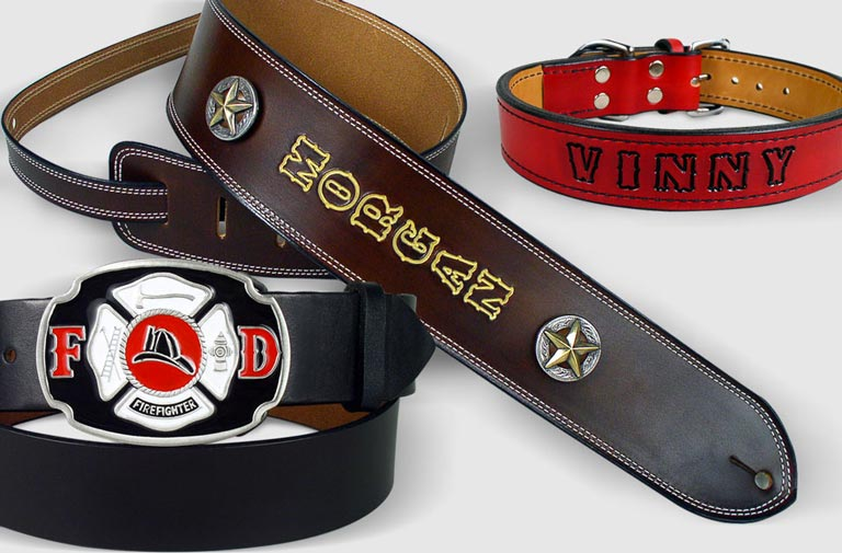 Personalized leather products custom made at Leathersmith Designs.