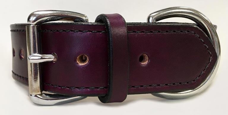 Plain Leather Rugged Dog Collar.